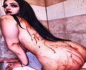Any kinky men wanna see me covered in fake blood completely naked ? from fake naked sa